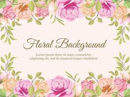 Floral Concept Wedding Banner Background Template Design vector