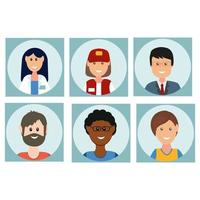 Icons of people of different professions in the flat style vector
