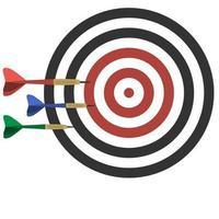 A game of darts and a field with a target vector