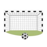 Soccer goal with a ball vector