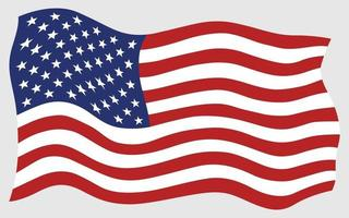 American Flag Waving Vector Art Icons And Graphics For Free Download