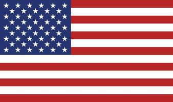 American flag icon vector