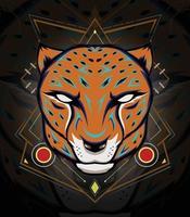 Cheetah Mascot Emblem for sport team LOGO vector