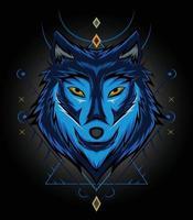 arte de ilustración de diseño de lobos para plantilla de diseño de ropa vector