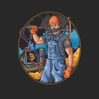 digital mining illustration modern business vector