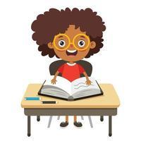 concepto de educación con carácter divertido vector