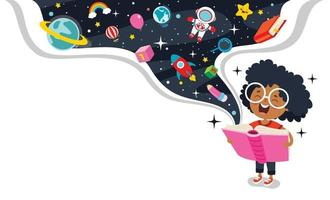 Education Concept With Funny Character vector