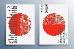 Red sun minimal design set for poster banner flyer brochure cover background wallpaper typography or other printing products vector