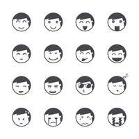Emotions man icons Vector illustration