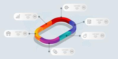 abstract isometric  timeline infographics vector