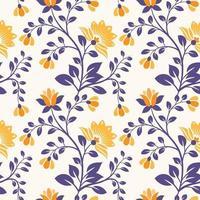 Fondo de patrón floral transparente con flores y hojas abstractas vector