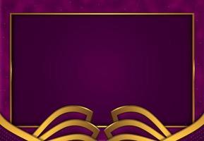 papercut luxury purple gold background vector