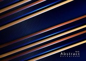 papercut elegant gold carbone blue background vector