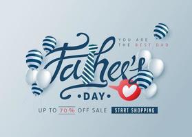 fondo de la bandera del cartel de la venta del día del padre vector