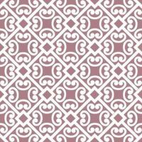 Abstract floral asian ornament Seamless geometric pattern with swirl line ornament in oriental style vector