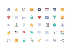User Interface Element Icon Flat vector