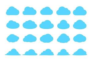 Simple cloud set design vector Isolated on background