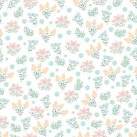 Small cute flower pattern Floral bouquet vector pattern with small flowers and leaves