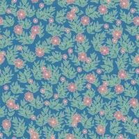 Small flower pattern background Floral bouquet vector pattern with small flowers and leaves
