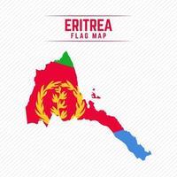 Flag Map of Eritrea vector
