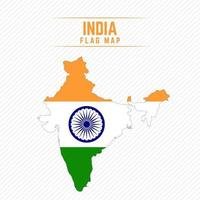 Flag Map of India vector