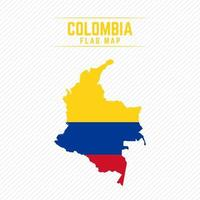 Flag Map of Colombia vector