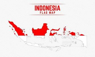 Flag Map of Indonesia vector