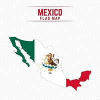 Flag Map of Mexico vector