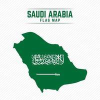 Flag Map of Saudi Arabia vector