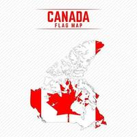 Flag Map of Canada vector