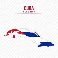 Flag Map of Cuba vector