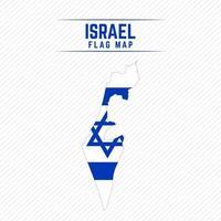 mapa de la bandera de israel vector