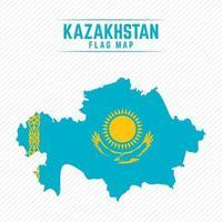 Flag Map of Kazakhstan vector