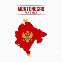 Flag Map of Montenegro vector