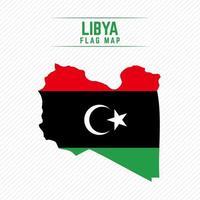 Flag Map of Libya vector