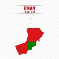 Flag Map of Oman vector