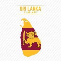 Flag Map of Sri Lanka vector