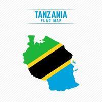 Flag Map of Tanzania vector