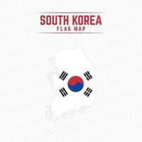 mapa de la bandera de corea del sur vector
