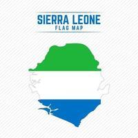 Flag Map of Sierra Leone vector