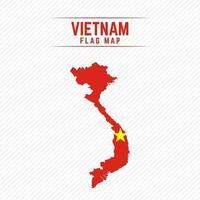 mapa de la bandera de vietnam vector