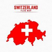 Flag Map of Switzerland vector