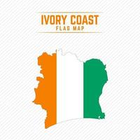 Flag Map of Ivory Coast vector