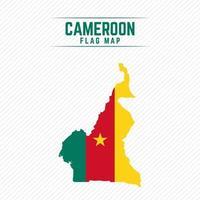 mapa de la bandera de camerún vector