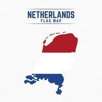 Flag Map of Netherlands vector