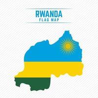 Flag Map of Rwanda vector