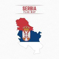 Flag Map of Serbia vector