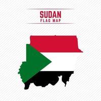 Flag Map of Sudan vector