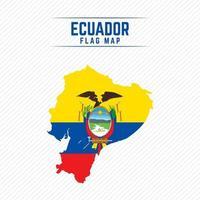 mapa de la bandera de ecuador vector