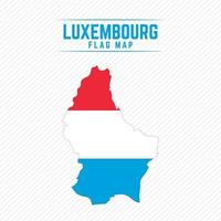 Flag Map of Luxembourg vector